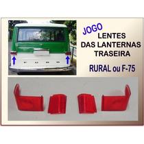 Lentes Lanternas Traseira Rural Ou F-75 60 À 82 Vermel Jogo