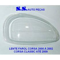 Vidro Lente Farol Corsa Classic 00 01 02 03 04 05 06 07 08