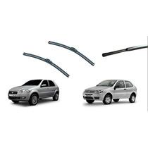 Kit Limpador Para-brisas Palio G3 E G4 Dianteiros + Traseiro