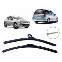 Kit Palheta Limp Parabrisa Dianteiro+traseiro Peugeot 206