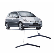 Par De Limpador Diant; Silicone Honda Fit 03 A 08 Importada
