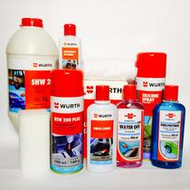 Kit Wurt Shampoo Cera Hidratante Couro Higienizador Pretinho
