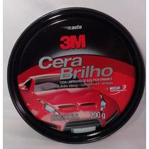 Cera Automotiva Brilho 3m 200g Com Silicone Carnauba Lata