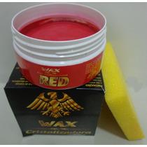 Cera Cristalizadora Wax Color Red140g Própria Carro Vermelho