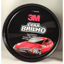 Auto Cera Brilho Com Silicone E Carnaúba Lata 200g - 3m