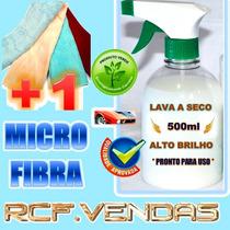 Kit Lavagem Carro A Seco + Pano De Microfibra * Alto Brilho