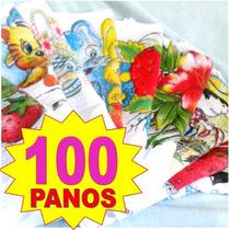 Kit 100 Panos De Prato Com Bainha De 1º Linha - Atacado