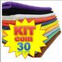 Kit 30 Panos Microfibra Flanela Lava Carro Seco * Anti-risco