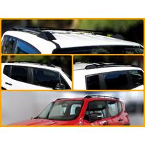 Rack De Teto Longarina Jeep Renegade 2015 2016 Preto 2 Peças