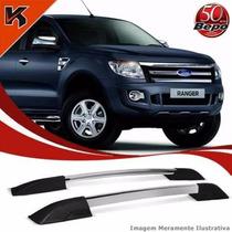 Longarina Teto Rack Executive Bepo Ford Ranger 2013 Cromado
