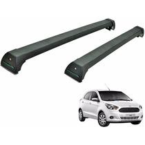 Rack Teto Ford Ka 4 Portas 2015 Em Diante Long Life Preto