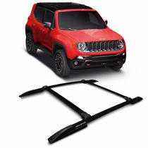 Acessório Jeep Renegade 2015 2016 Rack De Teto 4 Peças Preto