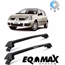 Rack Teto Eqmax Wave Renault Clio Hatch Sedan 4p Preto