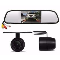 Espelho Retrovisor Com Tela Lcd 4,3 + Camera De Ré Dvd Carro
