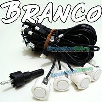 Sensor De Ré Estacionamento Branco Com 4 Cápsulas De 18,2mm