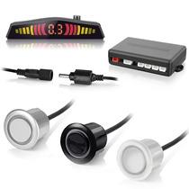 Sensor Estacionamento Ré 4 Sensores C/display Sonoro Preto