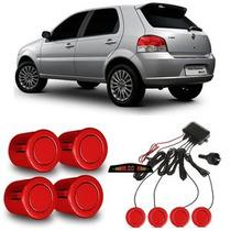 Sensor De Estacionamento Linha Fiat Vermelho Alpine