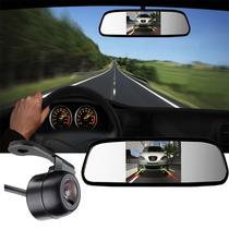 Espelho Retrovisor Com Tela E Câmera De Ré Estacionamento