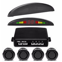 Sensor Estacionamento Preto Ré 4 Sensores Display Led Som