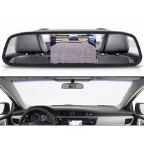 Espelho Retrovisor Monitor Tela Lcd 4.3 Para Carro