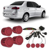 Sensor De Estacionamento Fiat Siena Vermelho Alpine