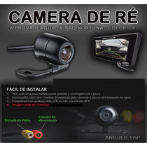 Kit Câmera De Ré+ Monitor Florino Palio Uno Up Ka Gol Corsa