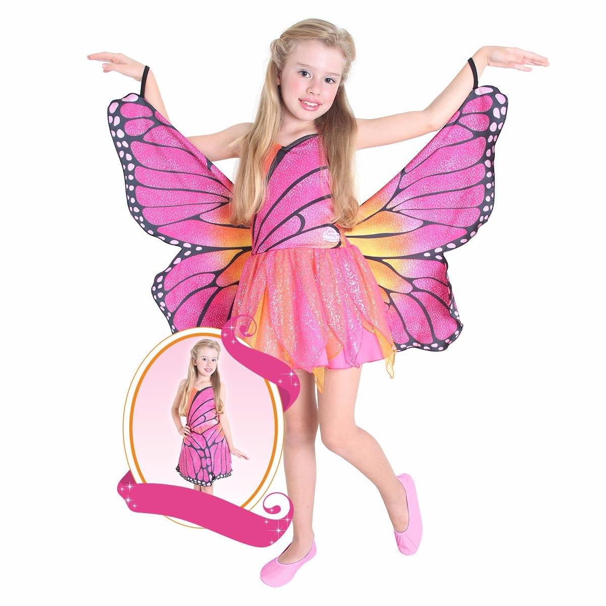 Fantasia Da Barbie Butterfly Infantil Luxo R$ 219 90 no MercadoLivre #B31875 1200x1200 Banheiro De Luxo Da Barbie