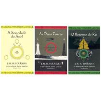 Kit O Senhor Dos Anéis 3 Livros - Capas Ilustração Tolkien
