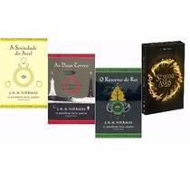 Kit O Senhor Dos Anéis 3 Livros + Box 3 Dvds Originais