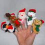 Kit Dedoche - Turminha De Natal Brinquedo Pedagógico Fatoche