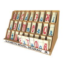 Alfabeto Degrau Cursivo - Didático, Pedagógico, Escolar,c/nf