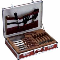 Jogo P/ Churrasco Completo 32 Pçs C/maleta Bon Gourmet-7463