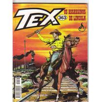 Revista Gibi Tex Nº 363 - Os Assassinos De Lincoln