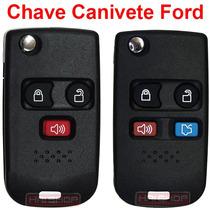 Chave Canivete Alarme Ford Fiesta Ecosport Novo Ka Completa
