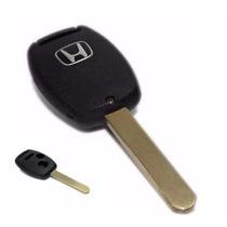 Carcaça Capa Chave Honda Civic City Fit 2 Botões + Pânico