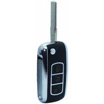 Chave Canivete Telecomando Cromado Alarme Vw Gol Voyage G6