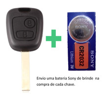 Chave Citroen C3 C4 Para Telecomando Original