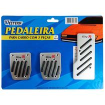 Pedaleira Esportivas De Carro Tunning Kit 3 Peças Pd-6