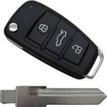 Chave Canivete Audi Alarme Positron 300 + Lamina Vw Santana