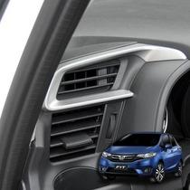Honda Fit Aplique Prata Saida De Ar Condicionado Acessórios
