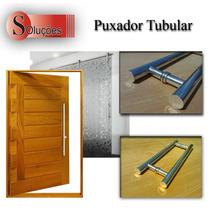 Puxador Tubular Em Alumínio Para Porta De Vidro E Madeira