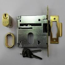 Fechadura Rolete 378 La Fonte Latão Polido Dourado