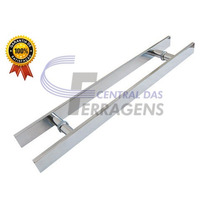 Puxador Para Porta De Vidro 100cm X 80cm Retangular