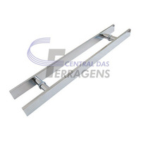 Puxador Retangular Aluminio 80cm X 60cm - Porta De Madeira