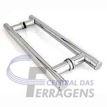 Puxador Tubular Aluminio Para Porta De Vidro E Madeira