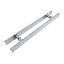 Puxador Aluminio Para Porta De Vidro 100cm X 80cm Retangular