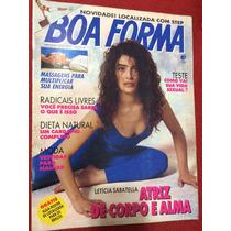 Revista Boa Forma Letícia Sabatela Atriz Da Globo Dieta Leve