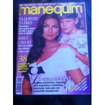 Revista Manequim Luiza Brunet E Yasmim. Mãe E Filha Modelos