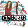Kit Revistas Moda Moldes Costura Roupas Vestido + Moldes
