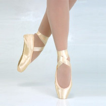 Sapatilha De Ponta Estudante Com Biqueira De Couro Ballet